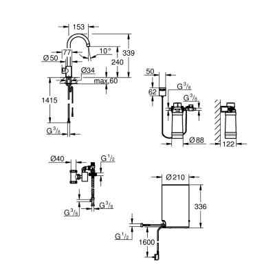 GROHE Red Mono - C-pip - M-size - Borstad Hard Graphite Grohe Red
