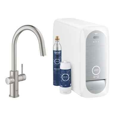 GROHE BLUE HOME C-TUD med udtræk - starter kit Watertrade